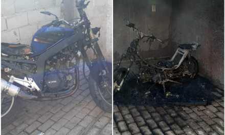 Incendio de motos