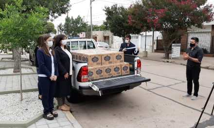 Cotagro – Acción solidaria – Donaron 1300 lts. de Lavandina al Municipio de Deheza