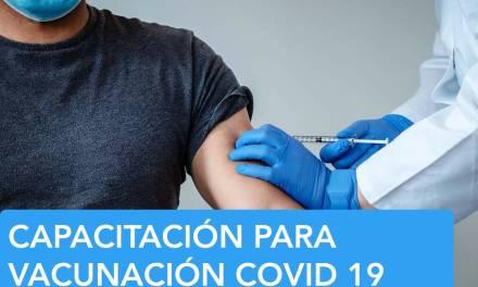 Personal del vacunatario  se capacitará para vacunación COVID
