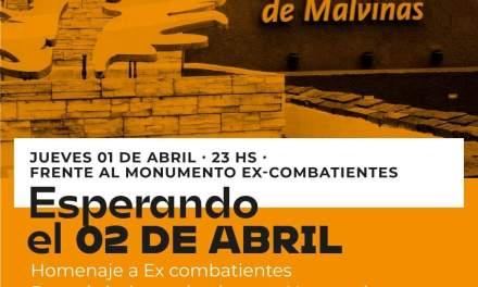 Acto de Malvinas y homenaje al veterano José L Rivero