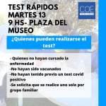 Reprogramada para mañana la Campaña de test rápidos