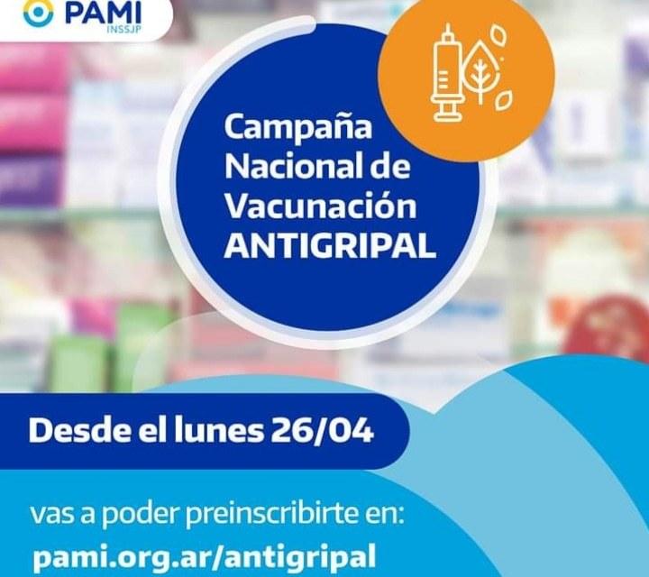 Afiliados a PAMI deben preinscribirse para recibir la vacuna antigripal