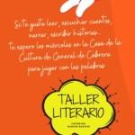 Vuelve el Taller Literario a Casa de la Cultura