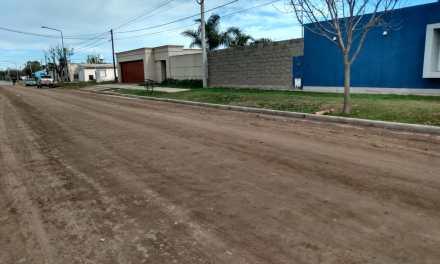 Obras – Cordón cuneta en Barrio Argentino