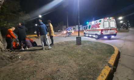 Menor herido de gravedad tras colisionar con su moto
