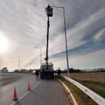 Cambio de luminarias en el acceso sur de nuestra ciudad
