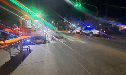 Accidente Ruta 158, un niño de 10 años trasladado