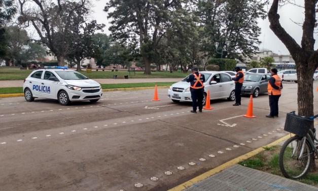 Personal policial realizó controles en la zona céntrica