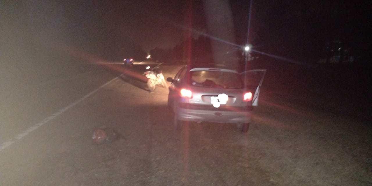 DEHEZA: Accidente entre un auto y una moto