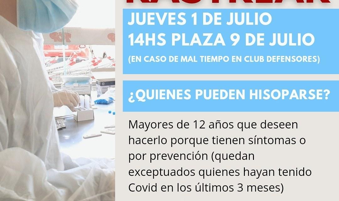 Nuevo «Operativo Rastrear» el jueves en la Plaza