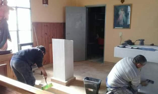 Capilla San Roque – Arreglos estéticos preparando todo para la «Novena a San Roque»
