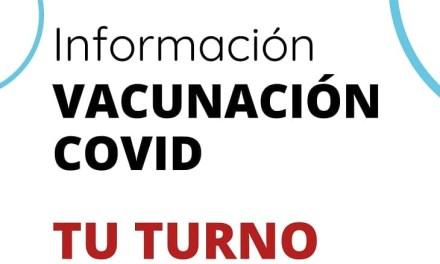 Información vacunacion Covid – Tu turno