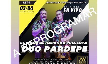 «El MONO de Kapanga» dio Positivo de Covid – Se re programa su presentación en Atahualpa
