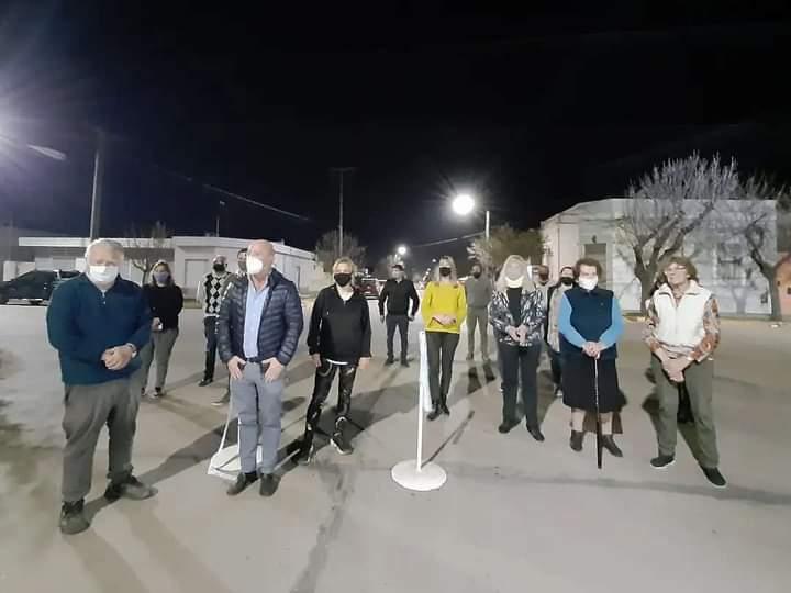 Inauguración Luces LED en 12 de Octubre y Rivadavia