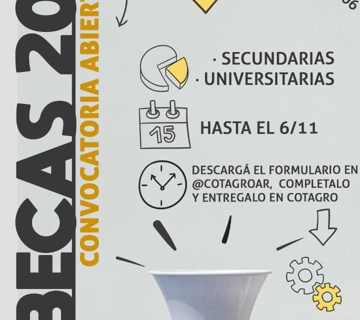 Cotagro- convocatoria para Becas 2022