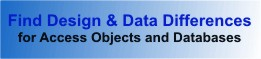 Microsoft Access Database and Object Comparison Product