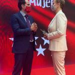 Coral Bistuer con el Vicepresidente de la CAM, Ignacio Aguado