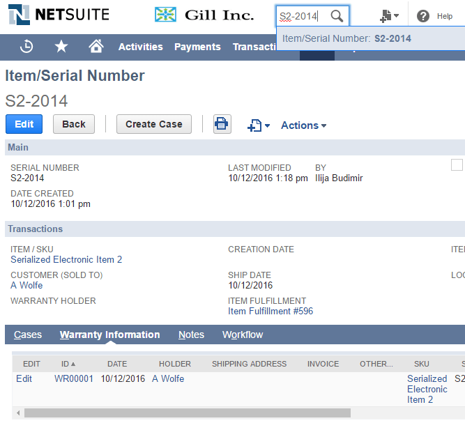 FMT's Custom NetSuite Solutions: Serialized Number Tracking