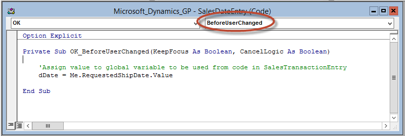 Enhancing Microsoft Dynamics GP With VBA Customization