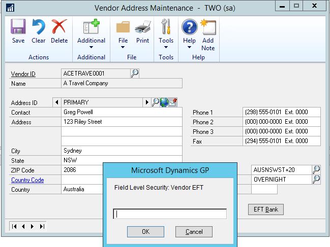 Field-Level-Security-Vendor EFT Password