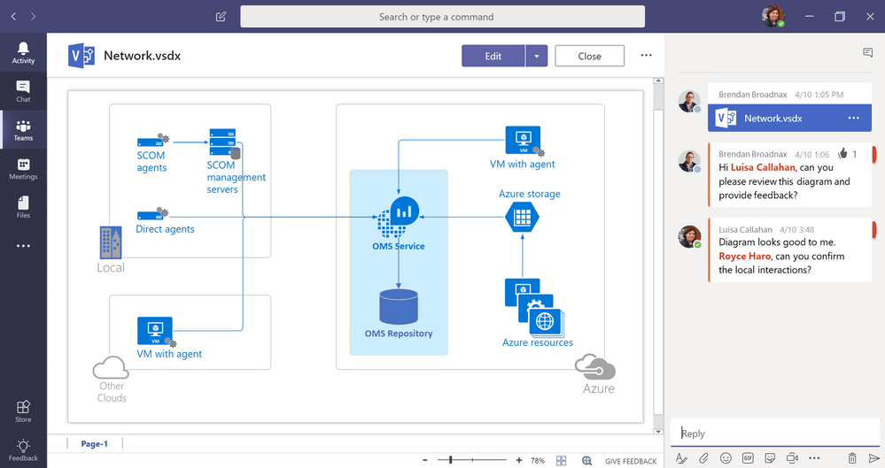Microsoft Teams Visio Collaboration