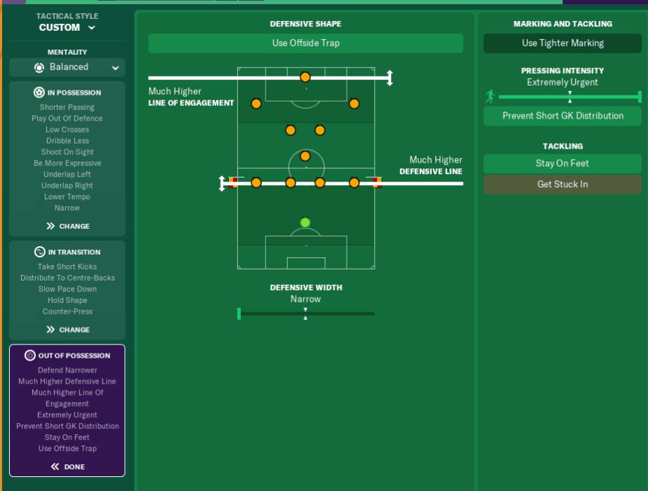 FM19 High Counter Pressing Tactic: Marcelo Bielsa 4-1-4-1