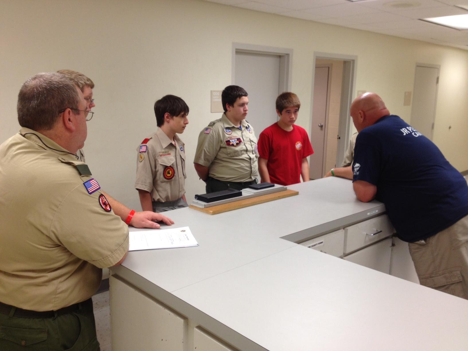 Crime Prevention Merit Badge Has Fmpd Tour