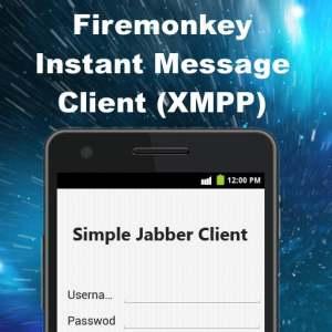 Delphi XE6 Firemonkey Jabber XMPP Instant Message Client Component Demo