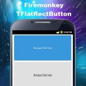 Delphi XE6 Firemonkey Flat Rect Button Component
