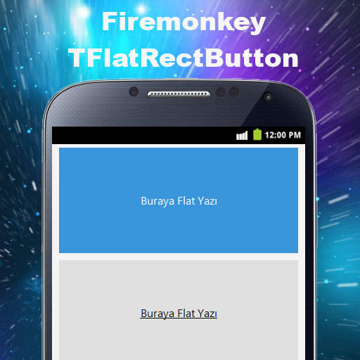 Free Flat Rectangle Icon Button Component For Delphi XE6 Firemonkey
