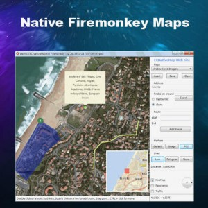Delphi XE7 Firemonkey Native Mapping Component