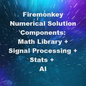 Delphi XE7 Firemonkey Math Library Statistical Analytsis Signal Processing Artificial Intelligence