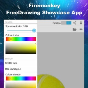 Delphi XE7 Firemonkey Free Drawing Android Showcase App