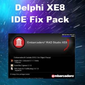 Delphi XE8 Firemonkey IDE Fix Pack Speed Enhancement
