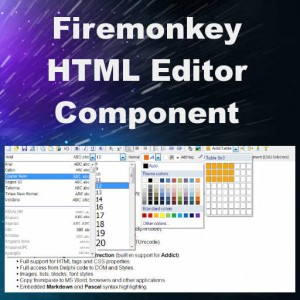 Delphi XE8 Firemonkey HTML Editor Component