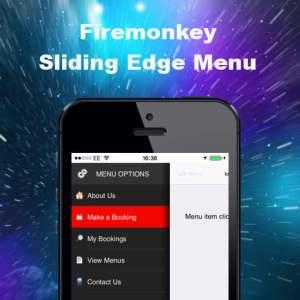 Delphi XE8 Firemonkey Sliding Edge Menu Android IOS