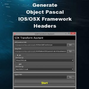 Delphi 10 Berlin Translate Objective C to Object Pascal Header Framework IOS OSX