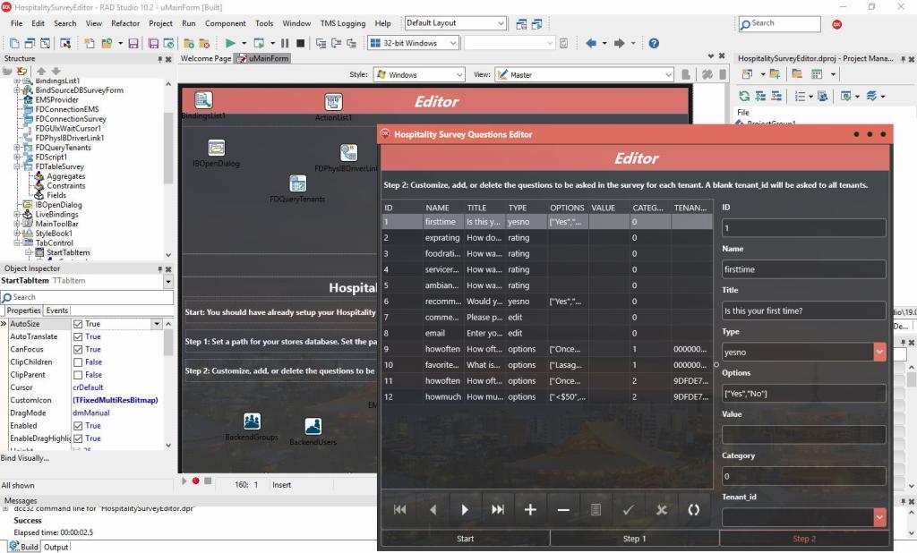 RAD Server InterBase Delphi Android IOS OSX Windows