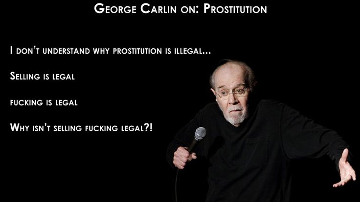 Carlin lampooning the so-called