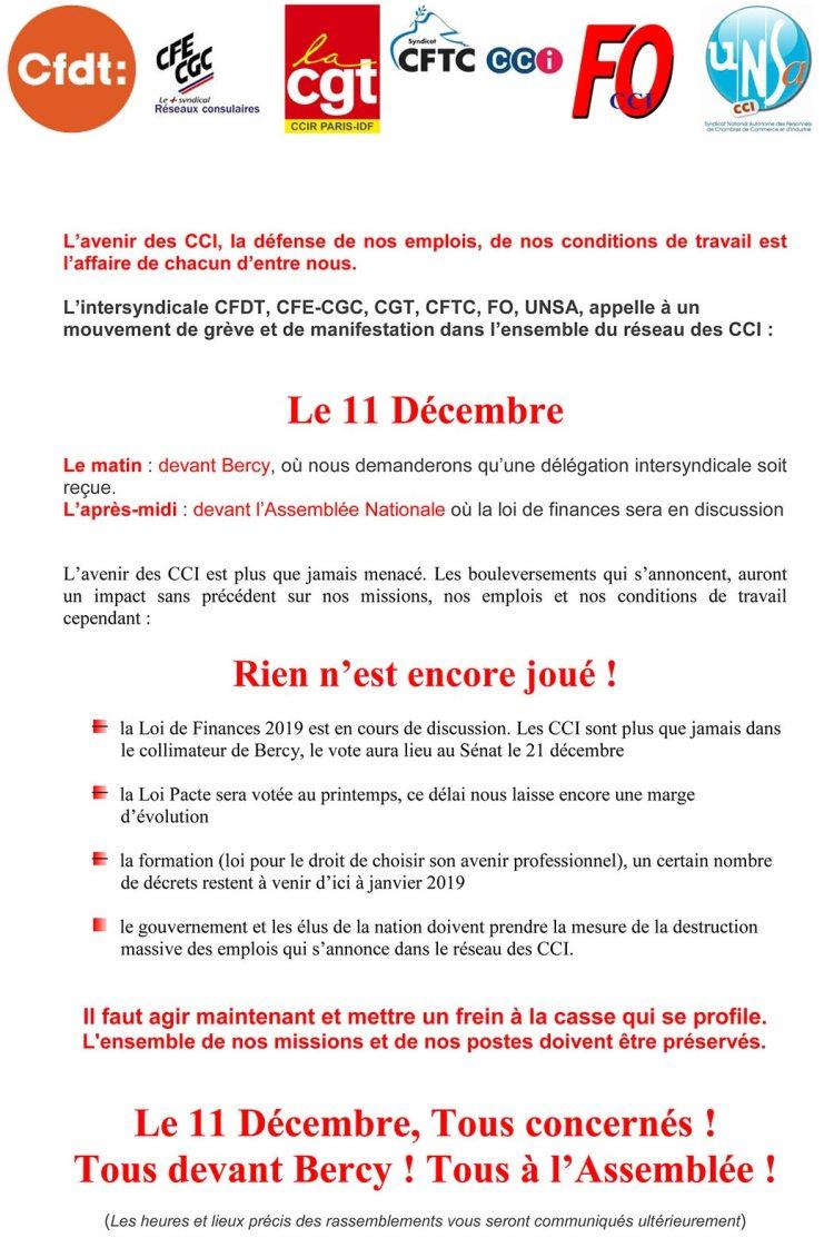 ac61bbca0a3 CFDT. Tous les syndicats du réseau appellent à la grève le 11 décembre