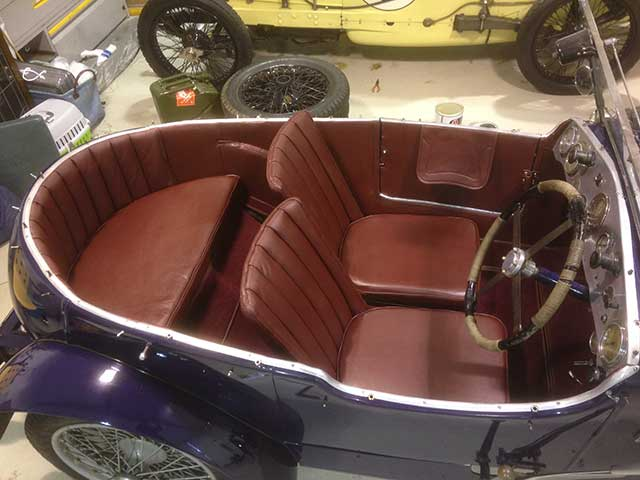Frazer Nash Seat Cushions Fitted.