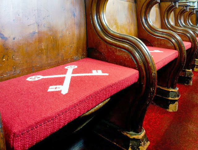 Pew Cushions produced by Foam For Comfort for Leeds Parish Church.