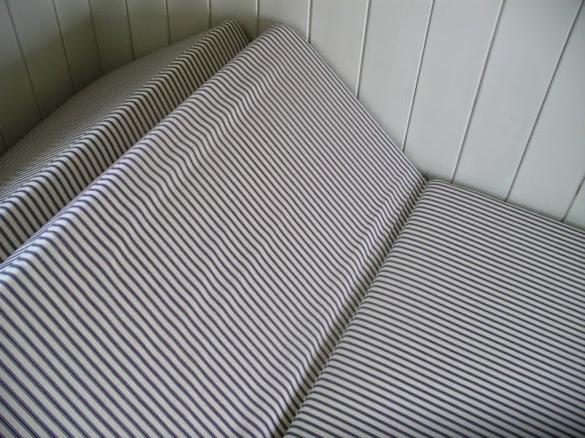 Foam cut to size and shape used for both the seating cushion and sleeping mattress.