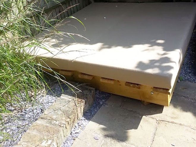 Large Pallet Cushion For Large Outdoor Sun Bed.