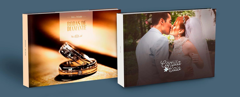 capa de album de casamento de luxo
