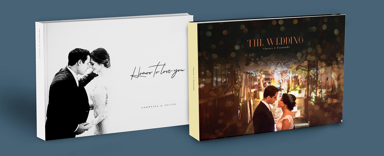 album de luxo de casamento