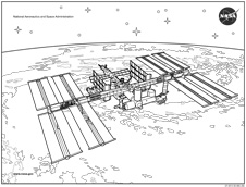 International Space Station Coloring Sheet