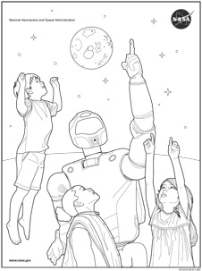 Robonaut Coloring Sheet
