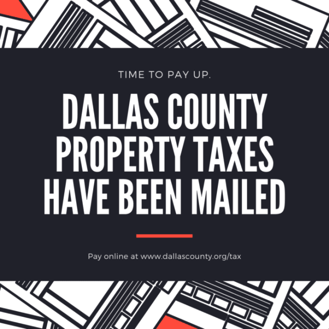 Dallas County Tax Flyer.