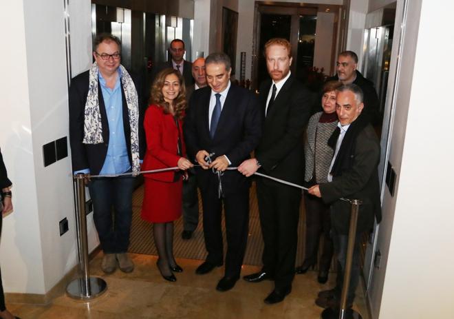 SEM Michel Pharaon inaugure Beirut In Motion à l'hôtel Le Gray